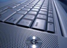 Blue titanium. Macro Keyboard image Stock Photography
