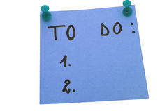 Blue To do list Stock Photography