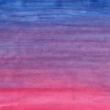Blue to red watercolor background gradient Stock Photography