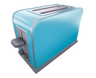 Blue toaster Stock Image