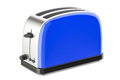 Blue toaster, 3D rendering Royalty Free Stock Images