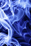 Blue tobacco smoke. May be used as background Royalty Free Stock Image