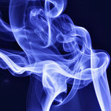 Blue tobacco smoke Royalty Free Stock Image