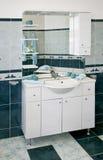 Blue toilet Royalty Free Stock Image