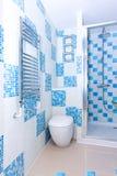 Blue toilet Stock Photos