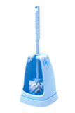 Blue toilet brush Stock Images