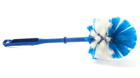 Blue Toilet Brush Stock Photos