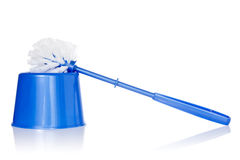 Blue toilet brush Stock Photo