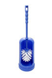 Blue toilet brush Royalty Free Stock Photography