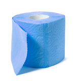Blue toilet paper Royalty Free Stock Photography