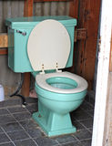 Blue toilet Royalty Free Stock Image