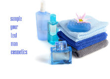 Blue toiletries Stock Photos