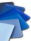 Blue Tone. Leatherette color sample Stock Images