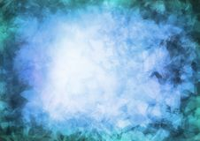 Blue tone Abstract background. Blue tone digital art painting absract Stock Photography