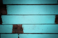 Blue tone decorative rough wooden wall texture background. Royalty Free Stock Photos