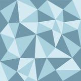 Blue tone low polygon pattern Stock Image