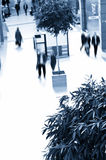 Blue tone mall. A blue tone mall view with blurred people Stock Photography