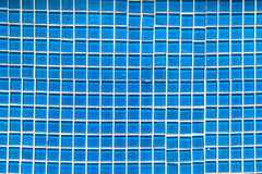 Blue tone mosaic tiles seamless Stock Photos