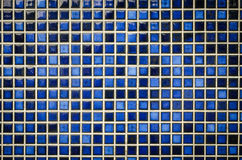 Blue tone mosaic tiles texture background. Blue water tone mosaic tiles texture background royalty free stock photo