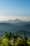 Blue tone Mountain vertical Royalty Free Stock Image