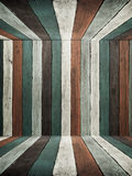 Blue Tone old wood wall ceiling and floor Royalty Free Stock Photos