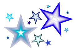 Blue Tone Stars Vector Royalty Free Stock Images