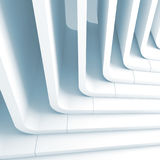 Blue toned abstract background 3d. Blue toned abstract background, curved stairs structure. 3d render illustration Royalty Free Stock Photo