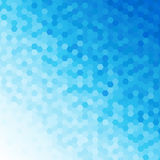 Blue Toned Abstract Background. Blue Tones Hexagonal Honeycomb Abstract Background Stock Photos