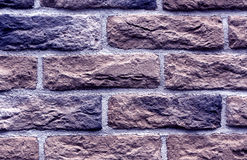 Blue toned brick wall surface. Royalty Free Stock Photos