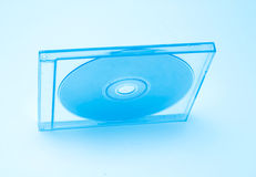 Blue Toned CD. In jewel case. Shallow depth of field intentional Stock Image