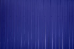 Blue toned Corrugated metal texture surface stock photography