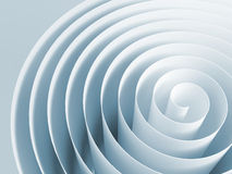 Blue toned 3d spiral, abstract digital illustration. Background pattern Royalty Free Illustration
