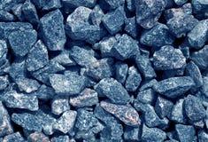 Blue toned gravel pile texture. Stock Photo