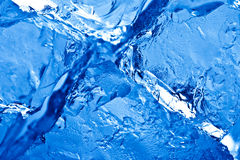 Blue toned ice background Stock Photography