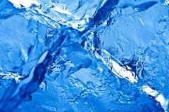Blue toned ice background stock photography