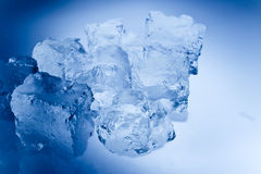 Blue toned ice cubes Stock Image