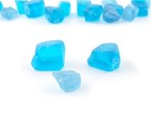 Blue toned quartz gemstone isolated on white background close up Stock Photography