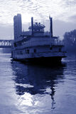 Blue Toned River Boat Royalty Free Stock Image
