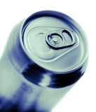 Blue toned soda can. On white background Stock Photography