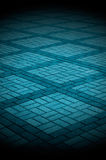 Blue-Toned Tiled Pavement Stock Photo