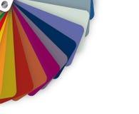 Blue tones on a color pallet. illustration design Stock Photography