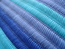 Blue tones fabric Royalty Free Stock Photography