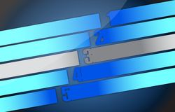 Blue tones graph with numbers Stock Photography