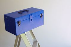 Blue tool box Stock Image