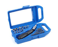Blue toolbox Stock Photos