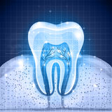 Blue tooth background Stock Image