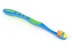 Blue tooth brush stock photos