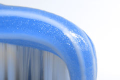 Blue toothbrush royalty free stock image