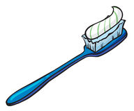 A blue toothbrush with a toothpaste Stock Photography