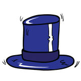 Blue top hat Royalty Free Stock Photos